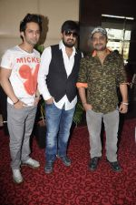 Sajid, Wajid, Rahul Vaidya at the Audio release of Ishkq In Paris in Mumbai on 17th Sept 2012 (31).JPG
