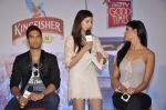 Siddhart Mallya, Nathalia Pinheiro, Karishma Kotak at Kingfisher calendar hunt press meet in Mumbai on 20th Sept 2012 (163).JPG