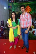 kunal kapoor, Huma Qureshi at times ganesha in Mumbai on 27th Sept 2012 (92).JPG