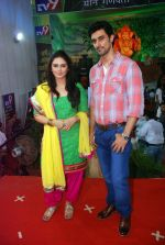 kunal kapoor, Huma Qureshi at times ganesha in Mumbai on 27th Sept 2012 (93).JPG
