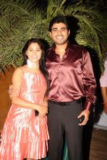 Aamrapali Gupta-Yash Sinha at the completion of 100 episodes in Afsar Bitiya on Zee TV by Raakesh Paswan in Sky Lounge, Juhu, Mumbai on 28th Sept 2012.jpg
