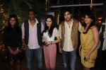 mitali nag-Raakesh paswan,Shivshakti-sachdev,Kinshuk mahajan with wife Divya at the completion of 100 episodes in Afsar Bitiya on Zee TV by Raakesh Paswan in Sky Lounge, Juhu, Mumbai on 28th Sept 2012.jpg