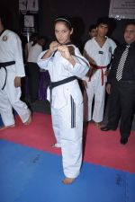 Neetu Chandra get Taekwondo Second Dan Black Belt at The Taekwondo Challenge � 2012 in Once More Studio, Opp. World Gym, Goregaon on 30th Sept 2012 (43).JPG
