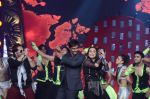 Ajay Devgan , Sonakshi Sinha and Mika perform at the GiMA Awards2012.JPG