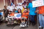 Perizaad Zorabian flags of rally for the cause of cerebral palsy in india on 2nd Oct 2012 (130).JPG
