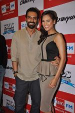 Arjun Rampal, Esha Gupta at the Audio release of Chakravyuh on 92.7 BIG FM on 3rd oct 2012 (40).JPG