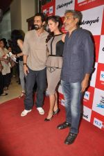 Arjun Rampal, Esha Gupta, Prakash Jha at the Audio release of Chakravyuh on 92.7 BIG FM on 3rd oct 2012 (23).JPG