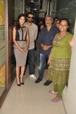 Arjun Rampal, Esha Gupta, Prakash Jha at the Audio release of Chakravyuh on 92.7 BIG FM on 3rd oct 2012 (28).JPG