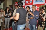 Arjun Rampal, Esha Gupta, Sulaiman Merchant, Prakash Jha, Salim Merchant  at the Audio release of Chakravyuh on 92.7 BIG FM on 3rd oct 2012 (27).JPG