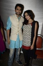 Jackky Bhagnani, Nidhi subbaiah at Ajab Gajab Love promotions in Juhu, Mumbai on 23rd Oct 2012 (42).JPG