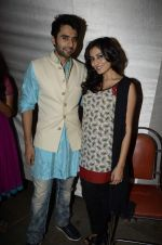 Jackky Bhagnani, Nidhi subbaiah at Ajab Gajab Love promotions in Juhu, Mumbai on 23rd Oct 2012 (43).JPG
