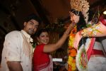 Gurmeet and Wife at North Bombay Sarbojanin Durga Puja in Mumbai on 24th Oct 2012.JPG