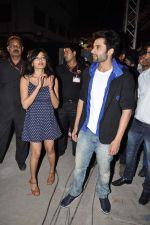 Jackky Bhagnani, Nidhi Subbaiah at Ajab Gajab Love promotions at NM college in Juhu, Mumbai on 1st Nov 2012 (104).JPG