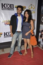 Jackky Bhagnani, Nidhi Subbaiah at Ajab Gajab Love promotions at NM college in Juhu, Mumbai on 1st Nov 2012 (99).JPG