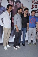 Abhishek Kapoor, Hrithik Roshan, Arjun Rampal, Sohail Khan at kai po che trailor launch in Cinemax, Mumbai on 20th Dec 2012 (45).JPG