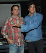 Lalit Pandit with Sunil Agnihotri at the song recording of Sunil Agnihotri_s film Balwinder Singh Famous Ho in Mumbai on 23rd Dec 2012 (2).JPG