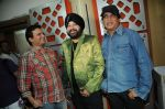 Lalit Pandit, Sunil Agnihotri with Daler Mehndi at the song recording of Sunil Agnihotri_s film Balwinder Singh Famous Ho in Mumbai on 23rd Dec 2012.JPG