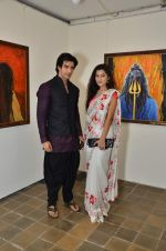 vicky batra, Surbhi Shukla at Bharat Tripathi_s exhibition in Mumbai on 25th Dec 2012 (41).JPG