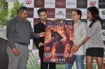 Karan Johar launches the Cover of Amish_s eagerly anticipated 3rd book in the Shiva Trilogy, The Oath of the Vayuputras in Mumbai on 27th Dec 2012 (10).JPG