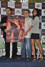Karan Johar launches the Cover of Amish_s eagerly anticipated 3rd book in the Shiva Trilogy, The Oath of the Vayuputras in Mumbai on 27th Dec 2012 (12).JPG