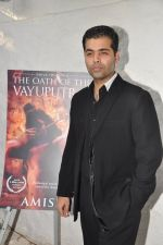 Karan Johar launches the Cover of Amish_s eagerly anticipated 3rd book in the Shiva Trilogy, The Oath of the Vayuputras in Mumbai on 27th Dec 2012 (23).JPG