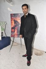 Karan Johar launches the Cover of Amish_s eagerly anticipated 3rd book in the Shiva Trilogy, The Oath of the Vayuputras in Mumbai on 27th Dec 2012 (25).JPG