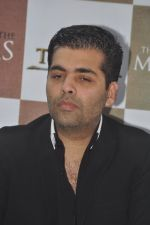 Karan Johar launches the Cover of Amish_s eagerly anticipated 3rd book in the Shiva Trilogy, The Oath of the Vayuputras in Mumbai on 27th Dec 2012 (8).JPG