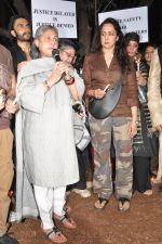 Hema Malini, Jaya Bachchan at the peace march for the Delhi victim in Mumbai on 29th Dec 2012 (250).JPG