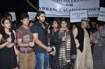 Shabana Azmi, Javed AKhtar at the peace march for the Delhi victim in Mumbai on 29th Dec 2012 (177).JPG