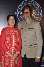 Sunmeet Kaur, Amitabh Bachchan wins 5 crores on the sets of Kaun Banega Crorepati in Mumbai on 5th Jan 2013 (56).JPG