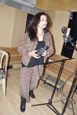 Salma Agha at a song recording for Damini - tribute to the victim of delhi rape in Mumbai on 7th Jan 2013 (15).JPG