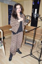 Salma Agha at a song recording for Damini - tribute to the victim of delhi rape in Mumbai on 7th Jan 2013 (17).JPG