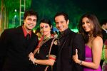 Karishma Modi and manmeet Gulzar, Kishwar Merchant at Vivian Dsena and Vahbbiz Dorabjee Marriage in Mumbai on 8th Jan 2013 (7).jpg