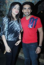 Sanaya Irani-mohit Sehgal at Na bole Tum Na Maine Kuch Kaha bash in Kinoos Cottage, Versova, Mumbai on 14th Jan 2013.JPG