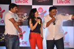 Ram Kapoor, Ragini Khanna, Manoj Tiwari at the press conference of Life OK_s new reality show Welcome in Mumbai on 18th Jan 2013 (190).JPG