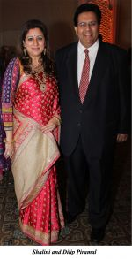 Shalini and Dilip Piramal at The wedding reception of Gayatri and Arjun Hitkari hosted by Debbie and Arun Hitkari in Taj, Colaba, Mumbai on 20th Jan 2013.jpg