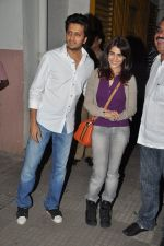 Ritesh Deshmukh, Genelia D Souza watches Balak Palak with Riteish & Genelia in Ketnav, Mumbai on 23rd Jan 2013 (11).JPG