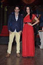 Tusshar Kapoor, Neha Dhupia at the launch of Colors TV Serial Nautanki - The Comedy Theatre in Filmcity, Mumbai on 25th Jan 2013 (33).JPG