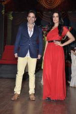 Tusshar Kapoor, Neha Dhupia at the launch of Colors TV Serial Nautanki - The Comedy Theatre in Filmcity, Mumbai on 25th Jan 2013 (34).JPG