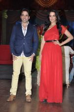 Tusshar Kapoor, Neha Dhupia at the launch of Colors TV Serial Nautanki - The Comedy Theatre in Filmcity, Mumbai on 25th Jan 2013 (36).JPG
