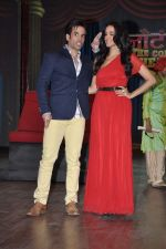 Tusshar Kapoor, Neha Dhupia at the launch of Colors TV Serial Nautanki - The Comedy Theatre in Filmcity, Mumbai on 25th Jan 2013 (39).JPG