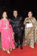 Govinda with wife and Narmada Ahuja at Udita Goswami weds Mohit Suri in Isckon, Mumbai on 29th Jan 2013 (275).JPG