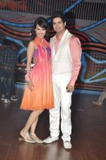 Karan Mehra, Nisha Rawal on the sets of Nach Baliye 5 in Filmistan, Mumbai on 29th Jan 2013 (68).JPG