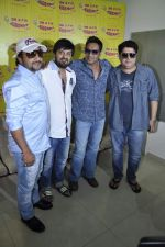 Ajay Devgan, Sajid Khan, Wajid Ali, Sajid Ali  at radio mirchi in Parel, Mumbai on 8th Feb 2013 (21).JPG