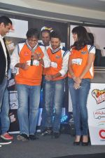 Ritesh Deshmukh, Genelia D Souza introduces his CCL team in Trident, Mumbai on 8th Feb 2013 (34).JPG
