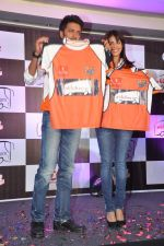 Ritesh Deshmukh, Genelia D Souza introduces his CCL team in Trident, Mumbai on 8th Feb 2013 (43).JPG