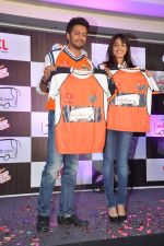 Ritesh Deshmukh, Genelia D Souza introduces his CCL team in Trident, Mumbai on 8th Feb 2013 (44).JPG