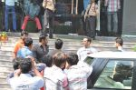 Salman Khan snapped outside Being Human store with Sunil Shetty in Santacruz, Mumbai on 13th Feb 2013 (20).JPG