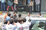 Salman Khan snapped outside Being Human store with Sunil Shetty in Santacruz, Mumbai on 13th Feb 2013 (21).JPG