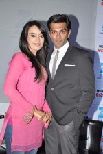 Karan Singh Grover, Surbhi Jyoti at the Press conference of ZEE TV_s serial Qubool Hain in Westin Hotel, Mumbai on 14th Feb 2013 (1).JPG
